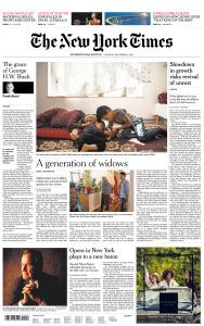 International New York Times - 3 December 2018