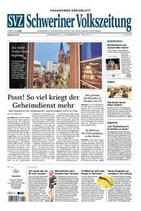 Schweriner Volkszeitung Hagenower Kreisblatt - 21. November 2019