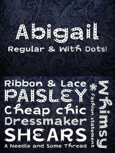 CM - Abigail Display Fonts 1589079