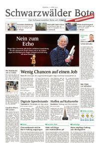 Schwarzwälder Bote Blumberg - 17. April 2018