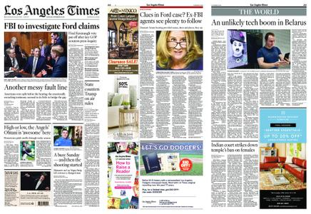 Los Angeles Times – September 29, 2018