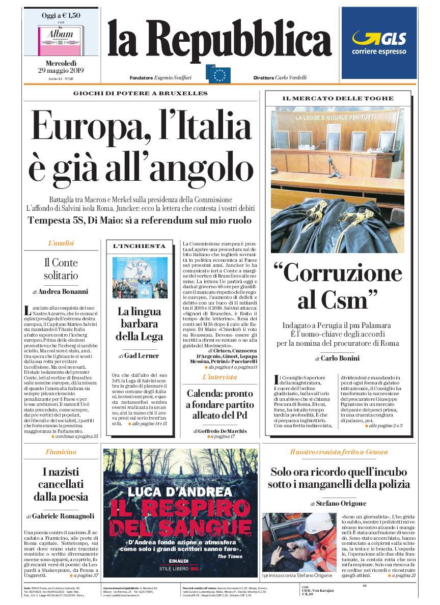 La Repubblica It Nel 2019: 29 Maggio 2019 / AvaxHome
