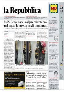 la Repubblica - 11 Maggio 2018