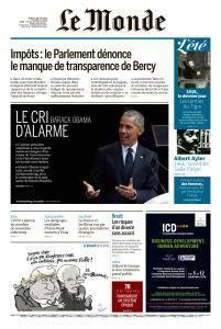 Le Monde du Jeudi 19 Juillet 2018