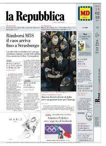 la Repubblica - 14 Febbraio 2018