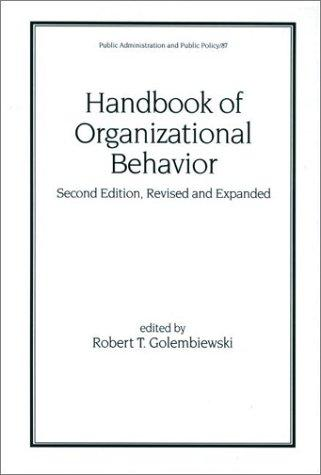 Handbook of Organizational Behavior