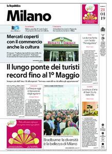 la Repubblica Milano – 21 aprile 2019