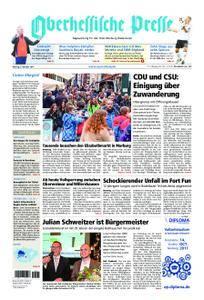 Oberhessische Presse Marburg/Ostkreis - 09. Oktober 2017