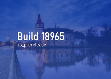 Windows 10 Insider Preview (20H1) Build 18965.1000