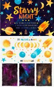 CreativeMarket - Starry Night, Pattern Pack