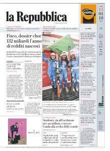 la Repubblica - 15 Gennaio 2018