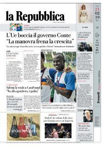 la Repubblica - 21 Febbraio 2019