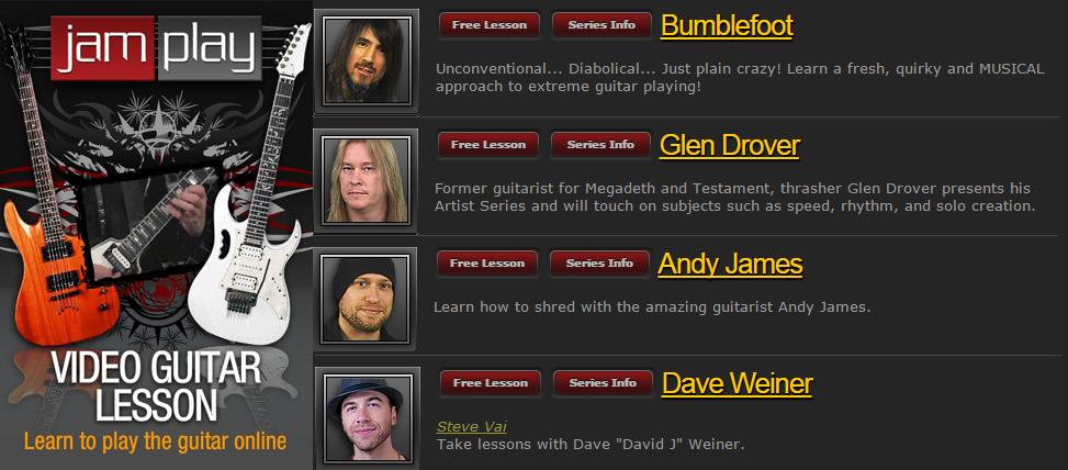 Jam Play - Artist Series: Bumblefoot, Glen Drover, Andy James, Dave Weiner (2016)
