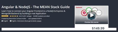 Udemy - Angular & NodeJS - The MEAN Stack Guide (2019)