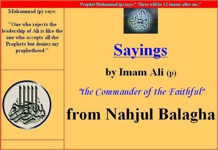 Sayings By Imam Ali