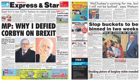 Express and Star Sandwell Edition – June 15, 2018