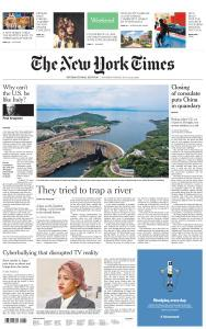 International New York Times - 25-26 July 2020