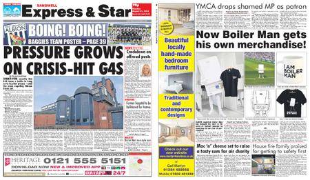 Express and Star Sandwell Edition – August 21, 2018