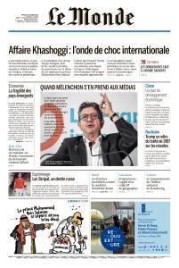 Le Monde du Mardi 23 Octobre 2018