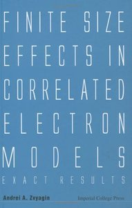 Finite Size Effects in Correlated Electron Models: Exact Results (repost)