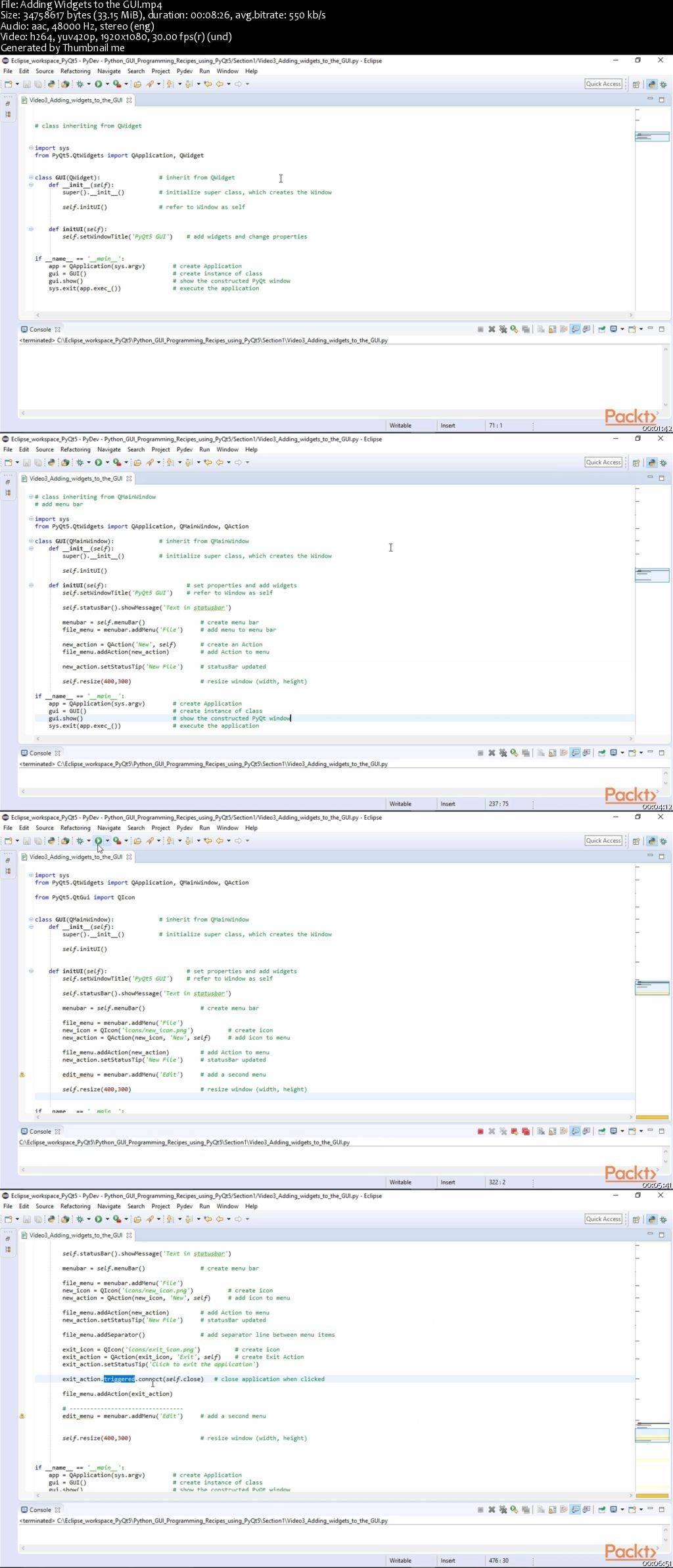 Python GUI Programming Recipes using PyQt5 / AvaxHome