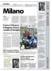 la Repubblica Milano - 7 Gennaio 2018