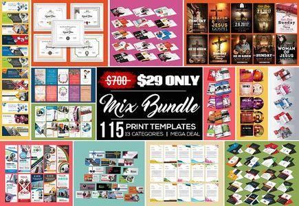 CreativeMarket - 115 Print Templates Big Bundle