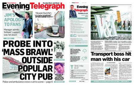 Evening Telegraph First Edition – April 01, 2019