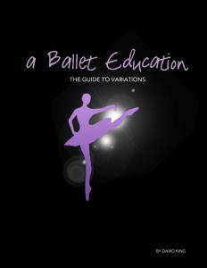 A Ballet Education - The Guide to Variations 2014-2015