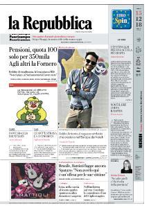 la Repubblica - 15 Dicembre 2018