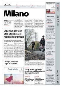 la Repubblica Milano - 16 Marzo 2018