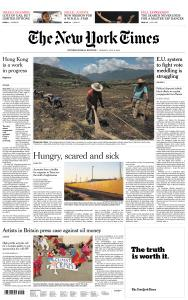 International New York Times - 8 July 2019