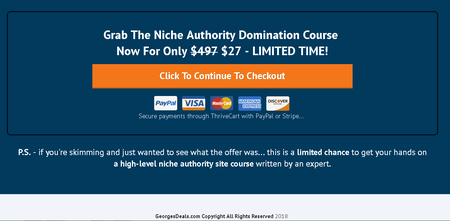 Niche Authority Domination Course - Mark Dickenson and Tony Newton