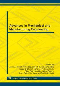Advances in Mechanical and Manufacturing Engineering