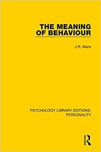 Psychology Library Editions: Personality: The Meaning of Behaviour