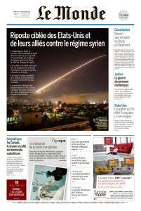 Le Monde du Dimanche 15 et Lundi 16 Avril 2018