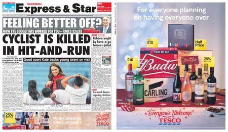Express and Star Sandwell Edition – November 23, 2017