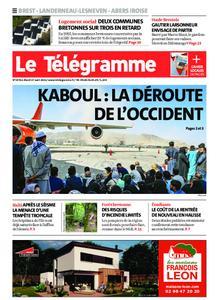 Le Télégramme Brest Abers Iroise – 17 août 2021