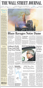 The Wall Street Journal – 16 April 2019