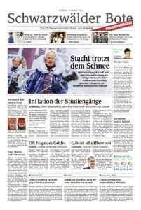 Schwarzwälder Bote St. Georgen, Triberg, Furtwangen - 13. Februar 2018