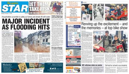 Shropshire Star Shrewsbury Edition – February 17, 2020