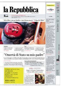 la Repubblica - 18 Luglio 2018