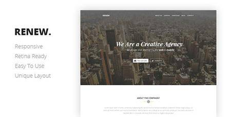 ThemeForest - RENEW v1.0 - Creative One Page Template - 7901870