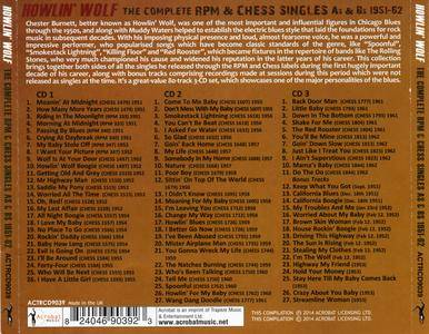 Howlin' Wolf - The Complete RPM & Chess Singles As & Bs, 1951-62 (2014) 3CD Set