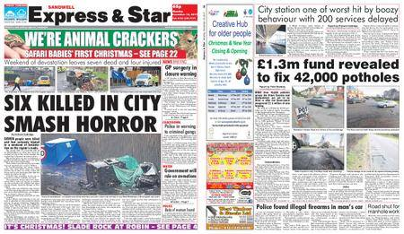 Express and Star Sandwell Edition – December 18, 2017
