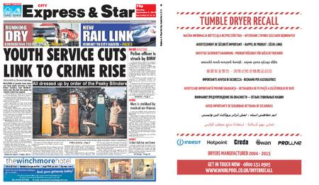 Express and Star City Edition – September 09, 2019
