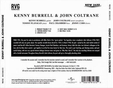 Kenny Burrell & John Coltrane - Kenny Burrell & John Coltrane (1958) {2006 Prestige RVG Remasters Series}