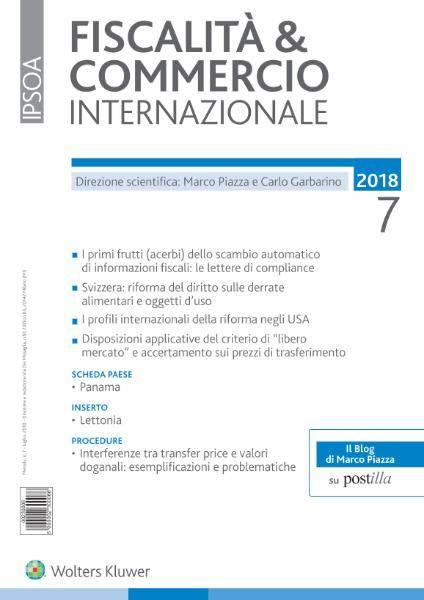 Fiscalità & Commercio Internazionale - Luglio 2018