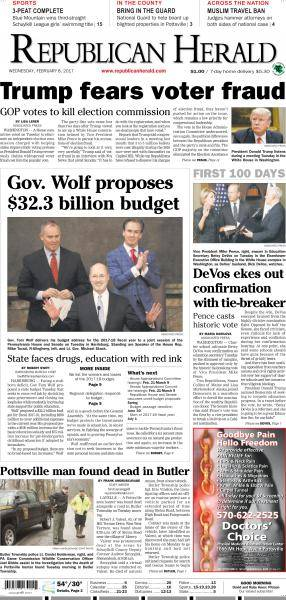 The Republican Herald - February 8, 2017