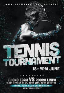 Tennis Flyer - PSD Template